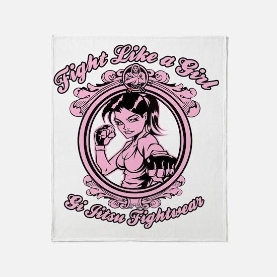 bjj fighter(girl) Throw Blanket