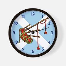 Bagpipes Wall Clock