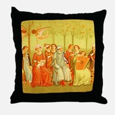 The Dream of Life Ital Costume 14th C Throw Pillow