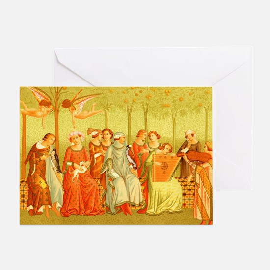 The Dream of Life Ital Costume 14th  Greeting Card