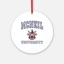 MCNEIL University Ornament (Round)