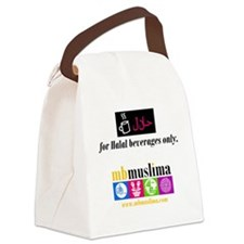 2-HalalBeverages Canvas Lunch Bag