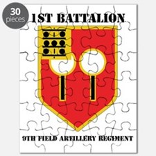 DUI - 1-9th Field Artillery Regiment with T Puzzle