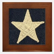 Flag Star Framed Tile