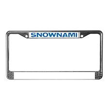 SNOWNAMI License Plate Frame