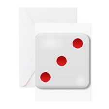 3 Dice Roll Greeting Cards