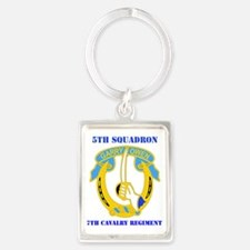 5-7TH CAV RGT WITH TEXT Portrait Keychain
