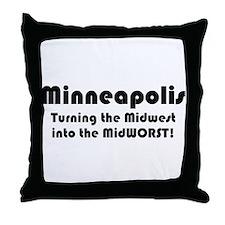 MidWORST Throw Pillow