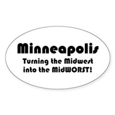MidWORST Oval Decal
