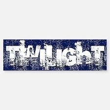 twilight large wall peel blue cop Bumper Bumper Sticker