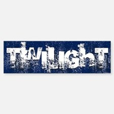 twilight large wall peel blue cop Sticker (Bumper)