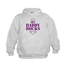 My DADDY ROCKS! with stars Hoodie