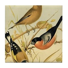 Goldfinch Linnet Bullfinch Tile Coaster