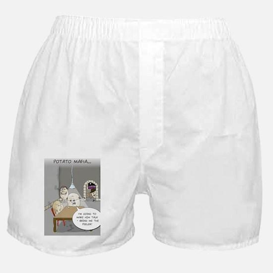 Potato Mafia Funny Greeting Card Boxer Shorts