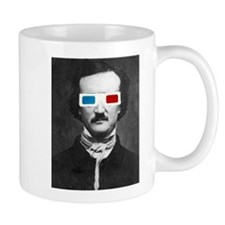 Edgar Allan Poe 3D Glasses Altered Art Mugs