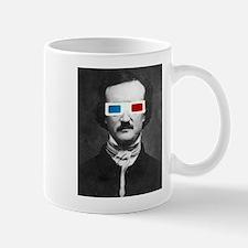 Edgar Allan Poe 3D Glasses Altered Art Mugs