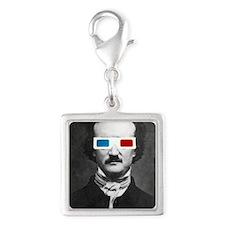 Edgar Allan Poe 3D Glasses Altered Art Charms