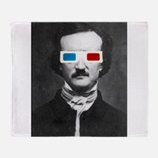 Edgar Allan Poe 3D Glasses Altered Art Throw Blank