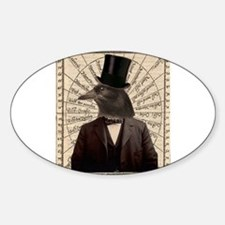 Victorian Steampunk Crow Man Altered Art Decal