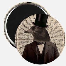 Victorian Steampunk Crow Man Altered Art Magnets