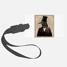 Victorian Steampunk Crow Man Altered Art Luggage T