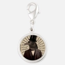 Victorian Steampunk Crow Man Altered Art Charms