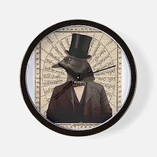 Victorian Steampunk Crow Man Altered Art Wall Cloc