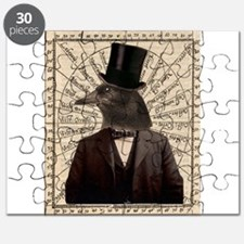 Victorian Steampunk Crow Man Altered Art Puzzle