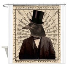 Victorian Steampunk Crow Man Altered Art Shower Cu