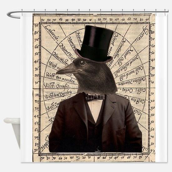 Victorian Steampunk Crow Man Altered Art Shower Cu