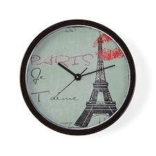 Paris-3 Wall Clock