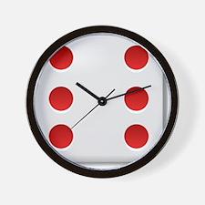 6 Dice Roll Wall Clock