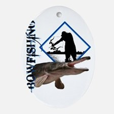 Bowfishing0001 Oval Ornament