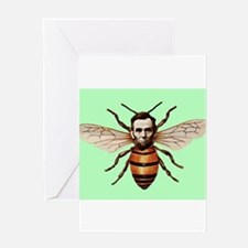Abraham Lincoln as Honey Bee Pop Surrealism Altere