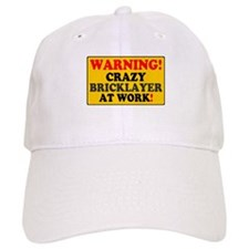 YELLOW SIGN - WARNING - CRAZY BRICKLAYER AT WORK!