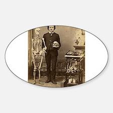 Edgar Allan Poe Victorian with Skeleton Skull Stic