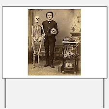 Edgar Allan Poe Victorian with Skeleton Skull Yard