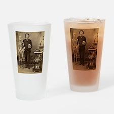 Edgar Allan Poe Victorian with Skeleton Skull Drin