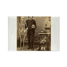 Edgar Allan Poe Victorian with Skeleton Skull Magn