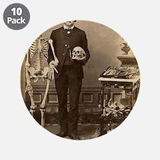 "Edgar Allan Poe Victorian with Skeleton Skull 3.5"""