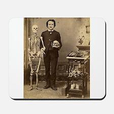 Edgar Allan Poe Victorian with Skeleton Skull Mous