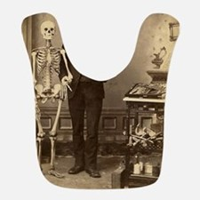 Edgar Allan Poe Victorian with Skeleton Skull Bib
