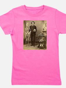 Edgar Allan Poe Victorian with Skeleton Skull Girl