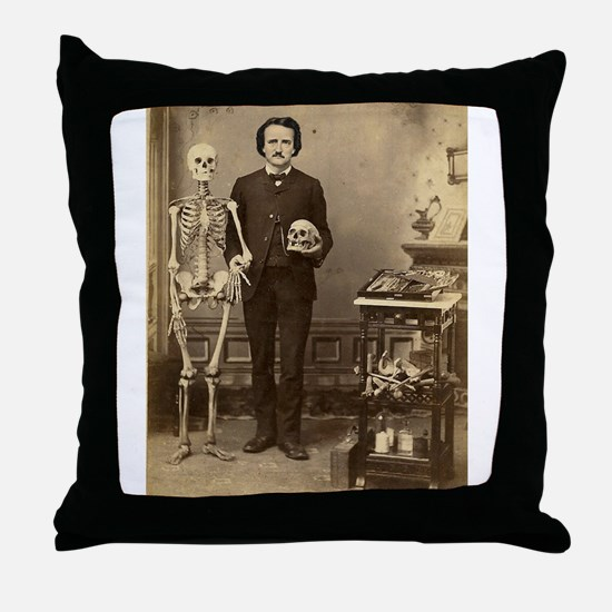 Edgar Allan Poe Victorian with Skeleton Skull Thro