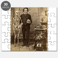 Edgar Allan Poe Victorian with Skeleton Skull Puzz