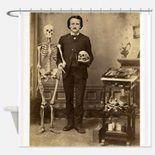 Edgar Allan Poe Victorian with Skeleton Skull Show