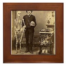 Edgar Allan Poe Victorian with Skeleton Skull Fram