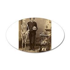 Edgar Allan Poe Victorian with Skeleton Skull Wall