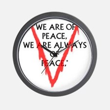 We are of PeaceLarge Wall Clock