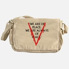 We are of PeaceLarge Messenger Bag